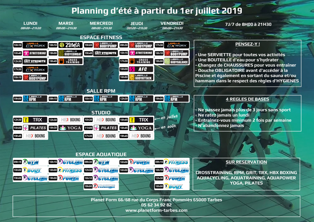 planning ete couleur2019